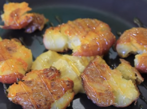 Sweet Potato in Honey and Mustard