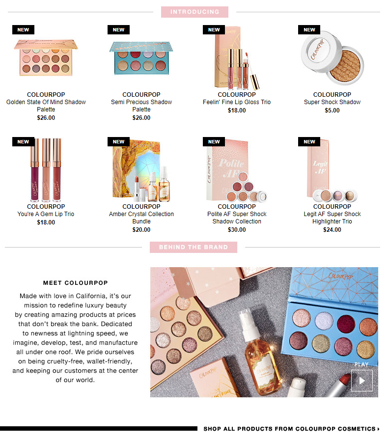 ColourPop Cosmetics Is Now Available at Sephora