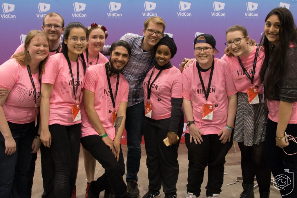 Hank Green w/ Volunteers