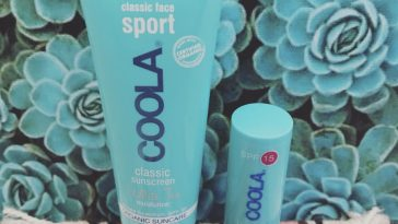 Review: COOLA Face Sport SPF 50 White Tea Moisturizer and Liplux SPF 30 Peppermint Vanilla