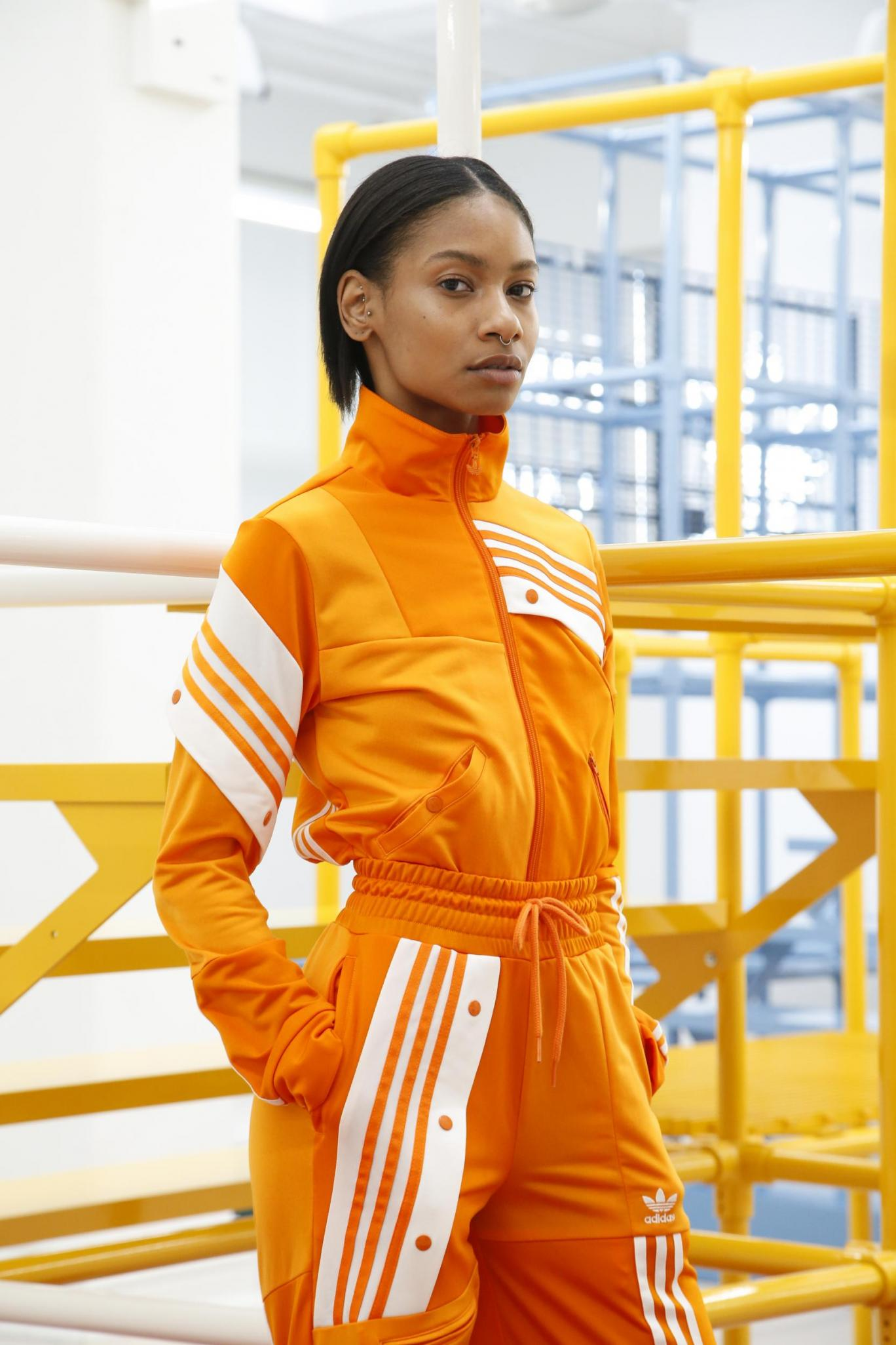 Kendall Jenner Models in adidas Originals' New Tracksuit