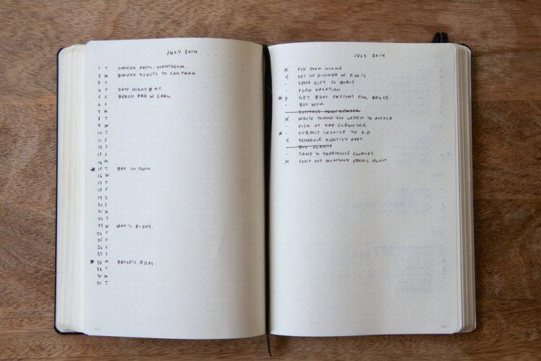 February bullet journaling
