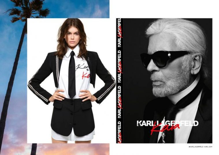 4908bb576cd Kaia Gerber Unveils Capsule Collection With Karl Lagerfeld - Fuzzable