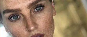 little mix, perrie edwards, face, freckles, skin, body confidence, natural beauty, beauty