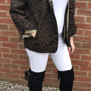a9eab512b32b ... 'Ronnie Leopard Denim Jacket' so much so that we thought we would take  a few photos of ourselves in it to show you what kind of clothes you can  style it ...