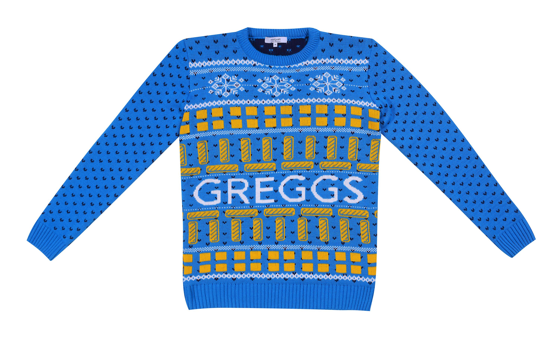 Greggs vegan sausage roll Christmas jumper