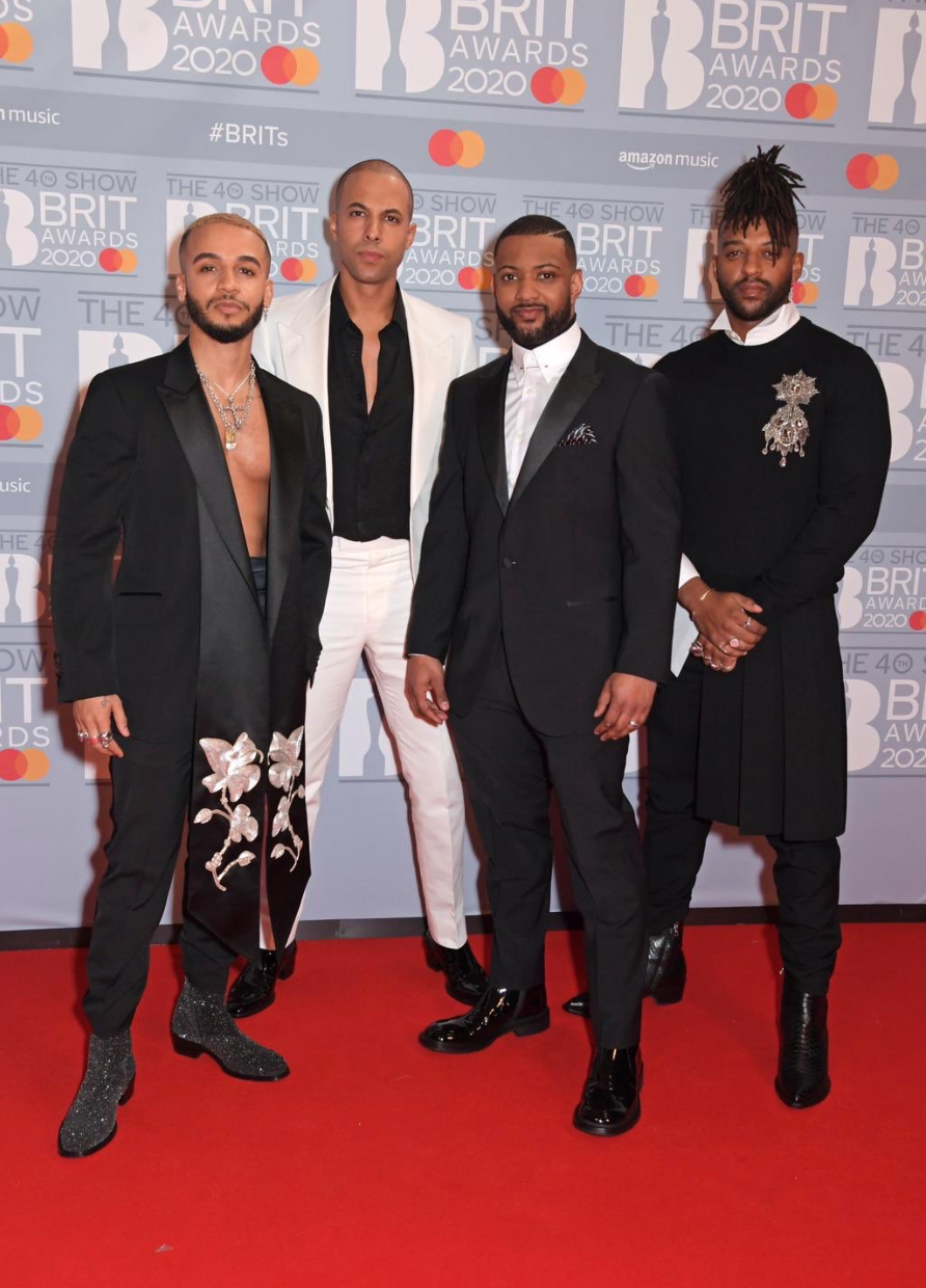 JLS (from l-r: Aston Merrygold, Marvin Humes, JB Gill and Ortise Williams)