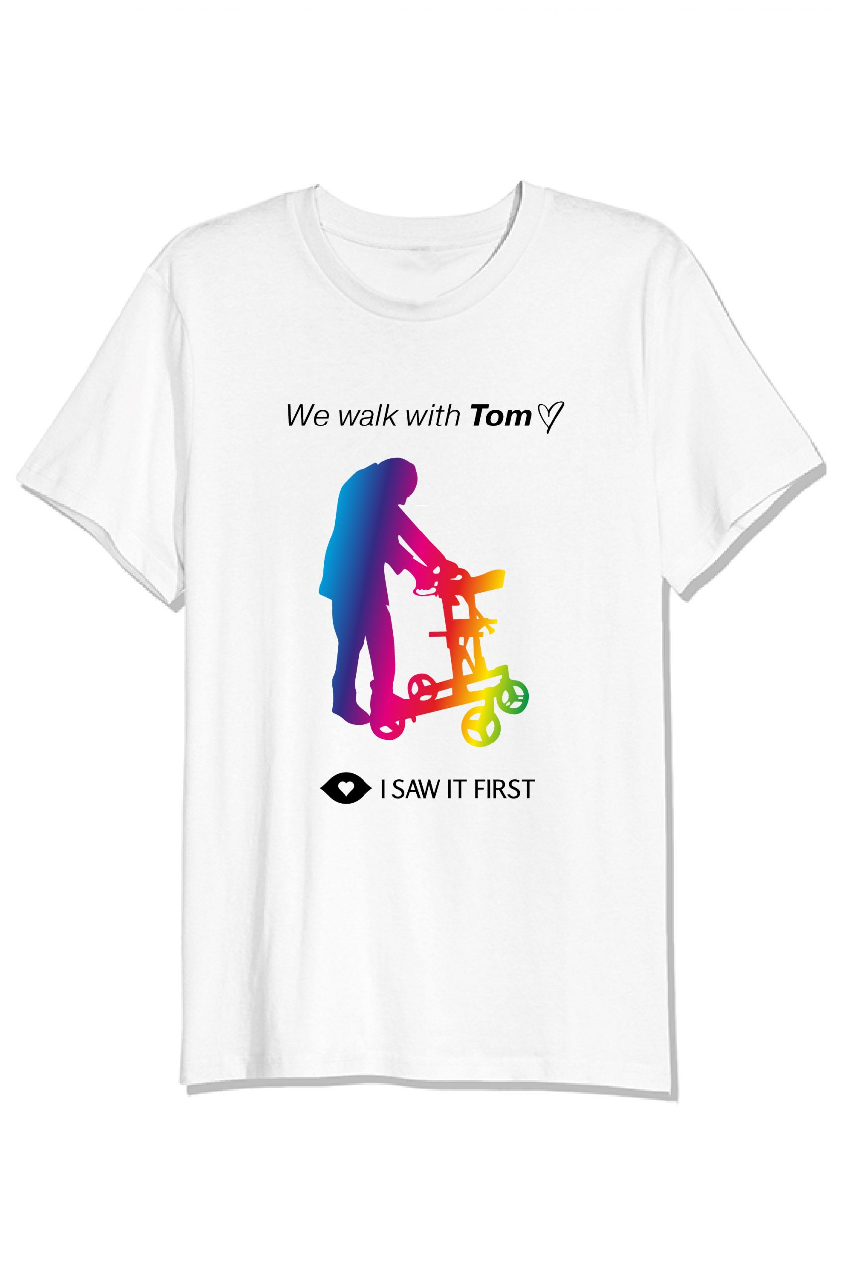 'We walk with Tom' t-shirt