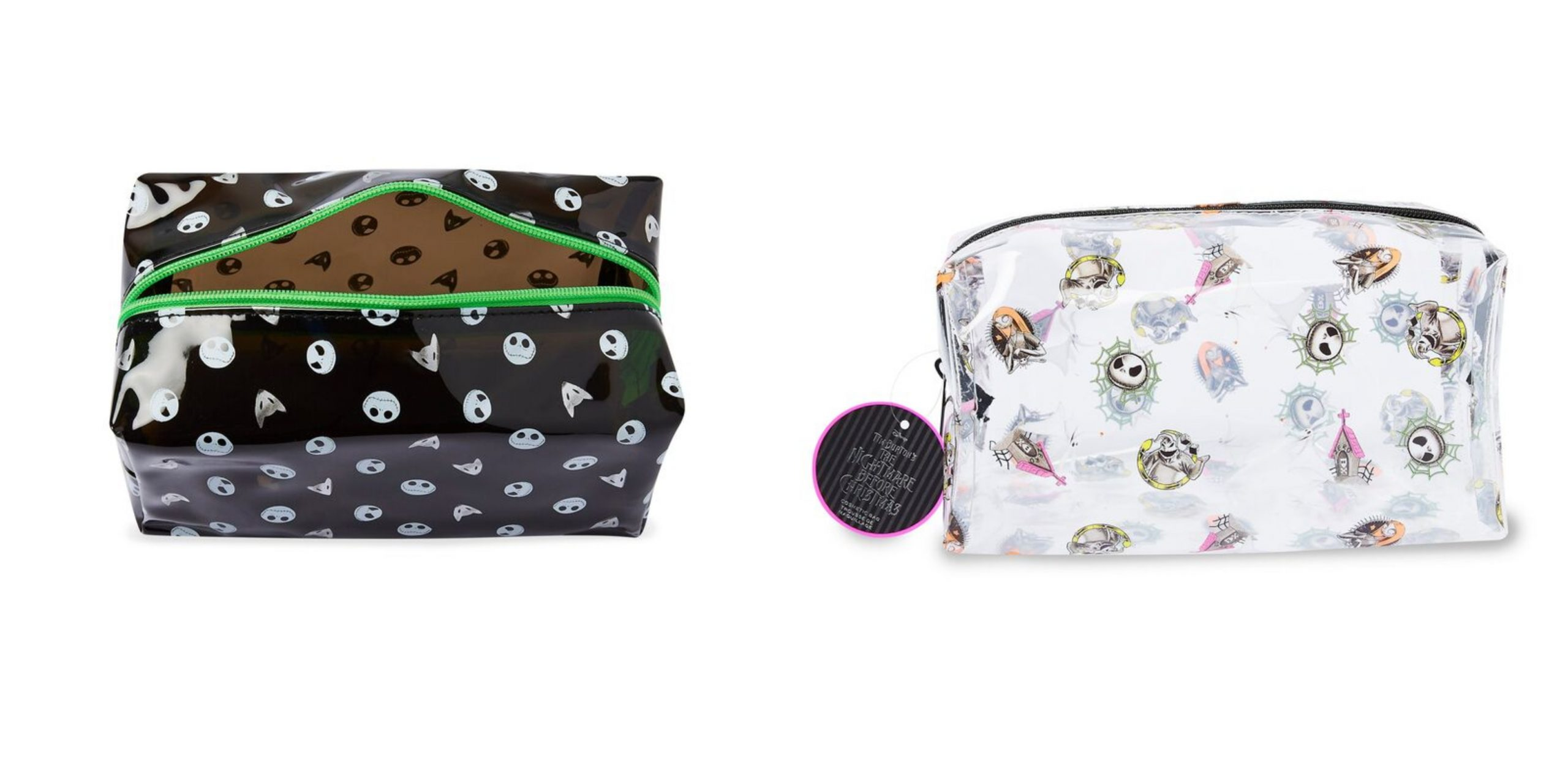 Makeup Revolution x The Nightmare Before Christmas cosmetics bags