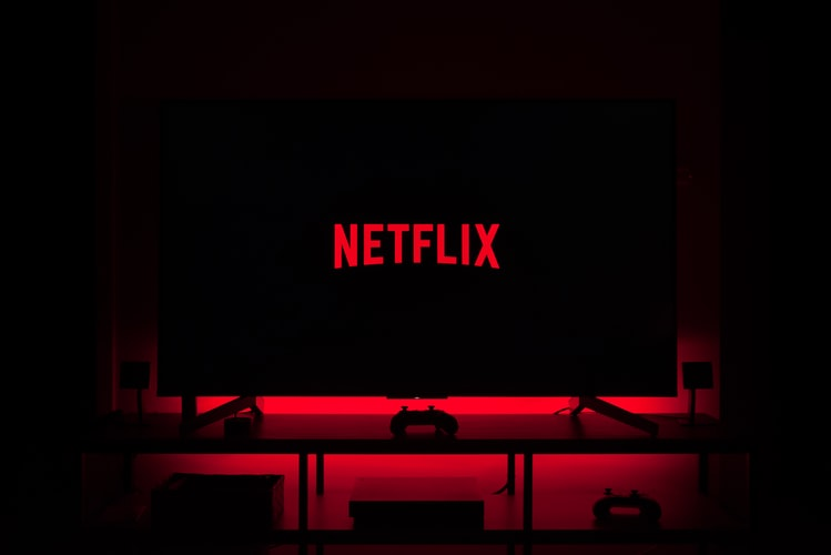 Netflix logo on a TV screen