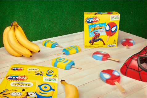 Minion and Spider-Man Popsicles